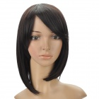 Fashion Short Natural Straight Hair Wigs - Black