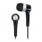 Stylish 3.5mm In-Ear Earphone with Microphone for Samsung i9300 / i9100 + More - Black