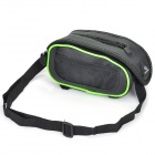 Roswheel Crocodile Pattern Cycling Bike Bicycle Top Tube Bag - Black + Green
