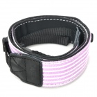 Adjustable Canvas Fabric Neck / Shoulder Sling Strap for DSLR / SLR Camera - Purple Strip