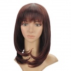 Fashion Medium Curly Hair Wigs - Wine