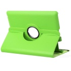 Stylish 360-Degree Rotating Swivel Protective PU Leather Case for Ipad 2 / The New Ipad - Green