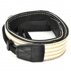 Adjustable Canvas Fabric Neck / Shoulder Sling Strap for DSLR / SLR Camera - Black + Khaki