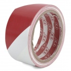 Self-Adhesive Hazard Warning PVC Tape - White + Red (4.5CM x 18M)