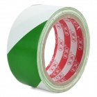 Self-Adhesive Hazard Warning PVC Tape - White + Green (4.5CM x 18M)