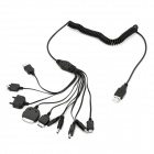 10-in-1 USB Powered Charging Cable for iPhone / Cellphone