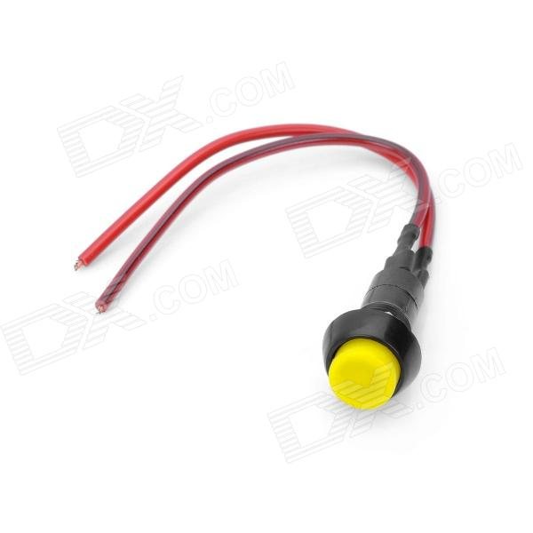 DIY ON/OFF Push Button Switch w/ 2 x Cables - Yellow + Black (3A 250V)