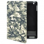Protective PU Leather Case with Smart Cover for iPad 2 / The New iPad - Camouflage
