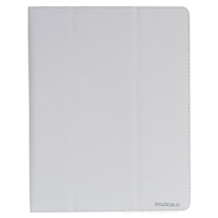 Protective PU Leather Case w/ Screen Protector + Stylus Pen for Ipad 2 / The New Ipad - White
