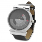 Fashion Watch Dial Design PU Leather Band Quartz Wrist Watch (1 x LR626)