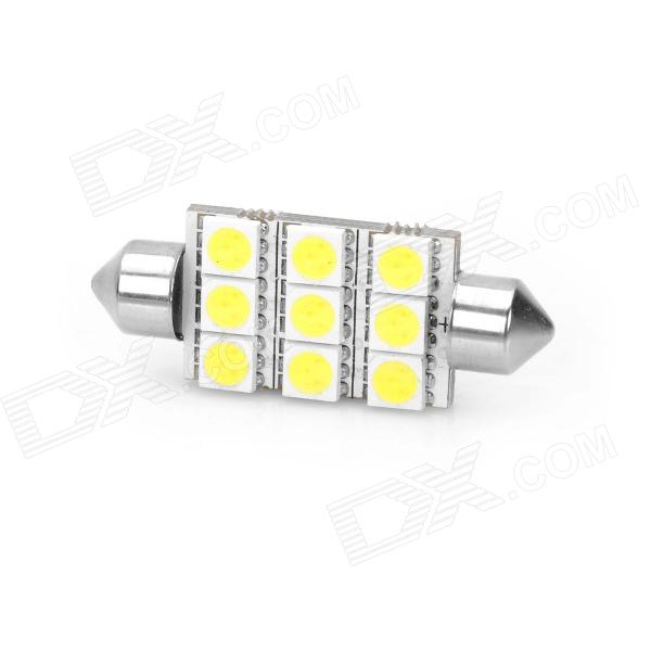 44mm 1.8W 6500K 126LM 9-5050 SMD LED White Light Car Reading Lamp (DC 12~17V) lx 3w 250lm 6500k white light 5050 smd led car reading lamp w lens electrodeless input 12 13 6v