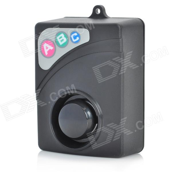 Bike Bicycle Vibration Activated Alarm With Password - Black (1 x 9V Battery)