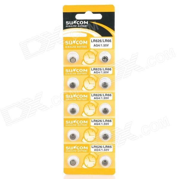 AG4 / LR626 1.55V Alkaline Cell Button Batteries (10-Piece Pack) ag8 lr55 1 55v alkaline cell button batteries 10 piece pack