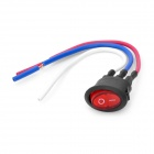 DIY Rocker Button Switch w/ 3 x Cables - Red + Black (6A 250V / 10A 125V)
