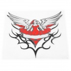 Angel Style Car Reflective Sticker - Black + Red + Silver