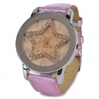 Fashion Alloy Dial w/ Crystal Star Design Quartz Wrist Watch (1 × LR626)
