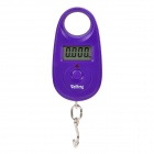 "1.1"" LCD Mini Portable Electronic Handheld Hanging Digital Scale - Purple (1 x CR2032)"
