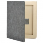 Protective PU Leather Case for iPad 2 / The New iPad - Dark Grey