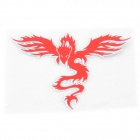 Cool Phoenix Style PVC Car Reflective Sticker - Red + Silver