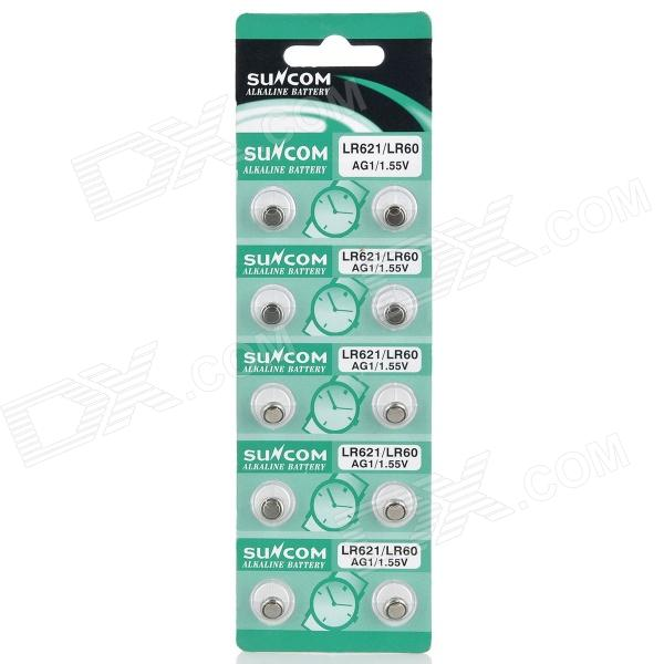 все цены на AG1 / LR621 1.55V Alkaline Cell Button Batteries (10-Piece Pack) онлайн