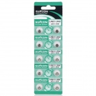 AG1 / LR621 1.55V Alkaline Cell Button Batteries (10-Piece Pack)