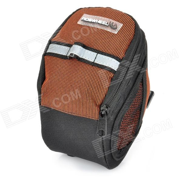 Cycling Bicycle Bike Fashion Saddle Seat Tail Bag - Black + Orange
