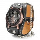 Fashion Pirate Skull Design w/ Flip-up Flame Cover Quartz Bracelet Watch (1 x LR626)