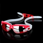 High Quality Anti-Fog PC Lens Swimming Goggles Glasses - Purplish Red
