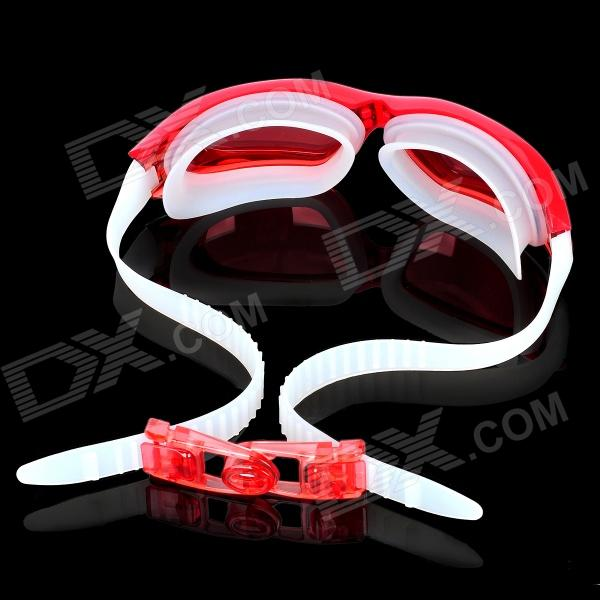 high quality goggles  High Quality Anti-Fog PC Lens Swimming Goggles Glasses - Red ...