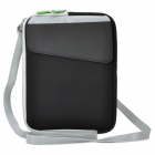Protective PU Leather Bag with Shoulder Strap for Ipad 2 / The New Ipad - Black