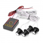 RH-808 4-in-1 1.5W 80LM 4-LED Red Light Car Strobe Light Lamps with Controller (12~14.5V)