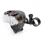 Outdoor 3-Mode 6-LED Bike Bicycle Headlight - Black (4 x AA)