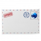 Retro Envelope Style Protective Fiber leather Sleeve for MacBook Air 11.6'' Laptop - White