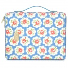 Fashion Flower Pattern Protective Bag Case for iPad 2 / The New iPad - Blue