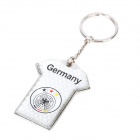 Germany National Football Team Jersey Style Keychain - White