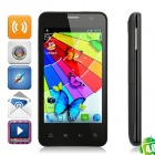 "X2 Android 4.0 WCDMA Bar Phone w/ 4.0"" Capacitive, Dual-SIM, GPS and Wi-Fi - Black"