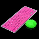 Deep Pink Silicone Keyboard Cover Skin for MacBook 13.3'' & 15.4'' Laptops + Super Clean Putty