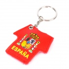 2012 European Cup Spain National Football Team Jersey Style Keychain w/ 1-LED Light - Red