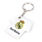 Real Madrid Jersey Style PU Leather Keychain w/ 1-LED Light - White