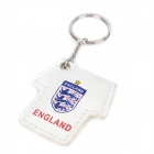 2012 European Cup England National Football Team Jersey Style Keychain w/ 1-LED light - White