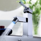 LED Color Changing Waterfall Chrome Bathroom Faucet