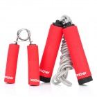 Hand Grip + Jump Rope Exercise Set - Red + Grey