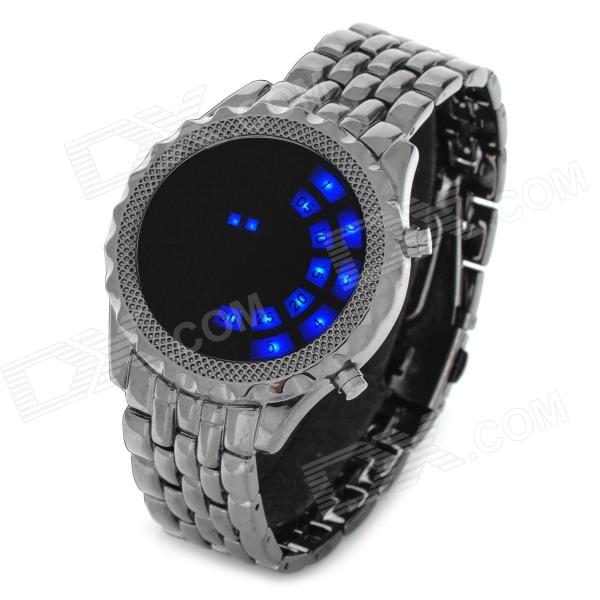 Cool Dial Blue Backlight LED Wrist Watch (2 x CR2016) stylish touch screen blue led wrist watch black 2 x cr2016