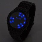 Cool Dial Blue Backlight LED Wrist Watch (2 x CR2016)