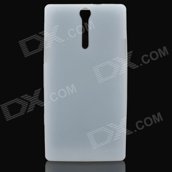 Protective Soft Silicone Back Case for Sony Ericsson Xperia S / LT26i - White