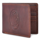 AC Milan Football Soccer Logo Genuine Leather Man Wallet
