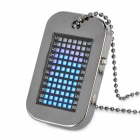 Fashion Army Dog Tag Style  Pendant Digital LED Pocket Watch (1 x CR2032)