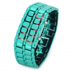 New Concept Leva LED Red Backlight Wrist Watch - Green (1 x CR2032)