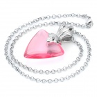 Elegant Cosplay Fate Stay Night Tohsaka Rin Gem Stone Pendant Necklace - Pink
