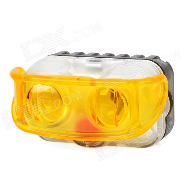 AKSLEN 2-LED 2-Mode White/Yellow Light Bicycle Safety Light w/ Mount Holder (2 x AAA) handlebar mount bicycle